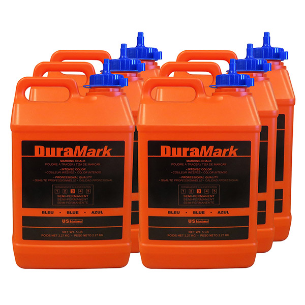 DuraMark Construction Chalk 5 lb. Bottle Contractor Packs